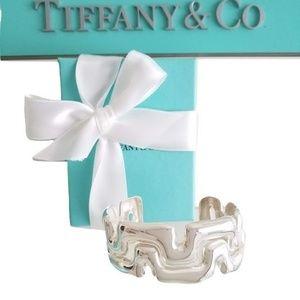 SOLD Tiffany & Co Puzzle Wide Cuff Bangle Bracelet
